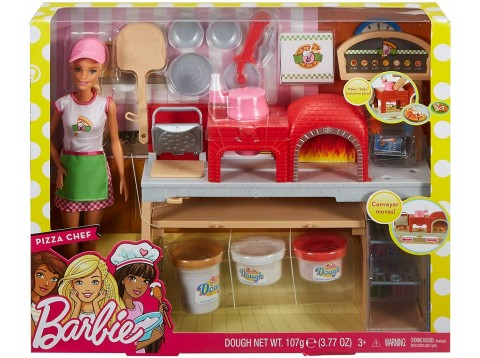 BARBIE PIZZA CHEF PLAYSET PIZZERIA